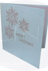 Pop up Christmas card, Snowflake