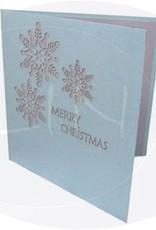 Pop Up Weihnachtskarte, Schneeflocke(Nr.431)