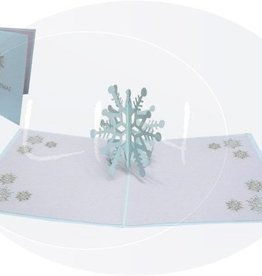 Pop up Christmas card, Snowflake