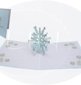 Pop Up Weihnachtskarte, Schneeflocke