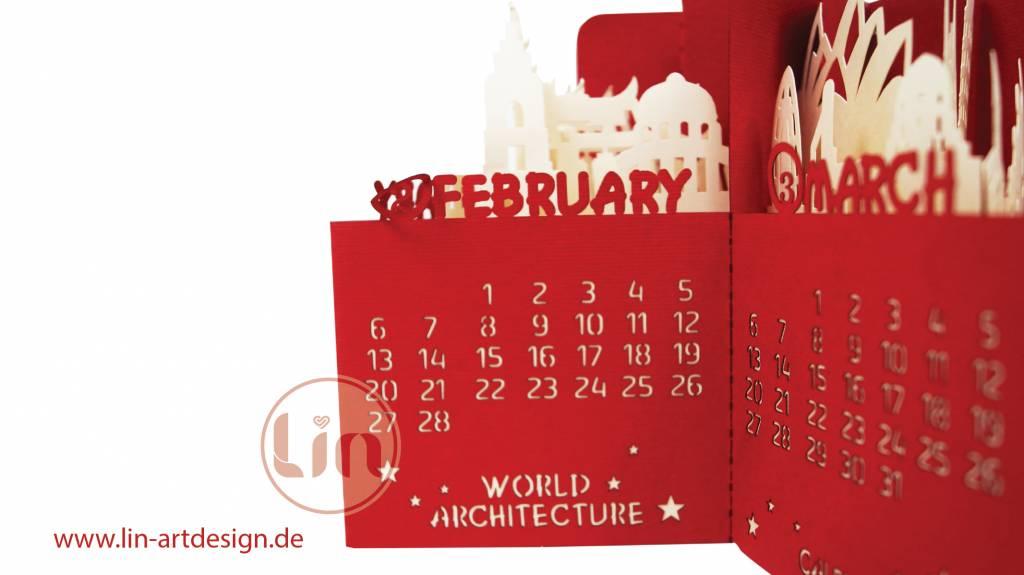 Pop Up Kalender Architektur