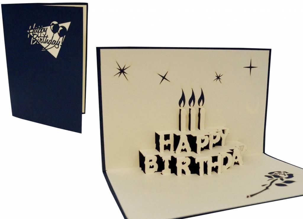 Pop Up 3D Karte, Geburtstagskarten,Glückwunsch karte, Kindergeburtstag, Partyeinladung, Torte, N1