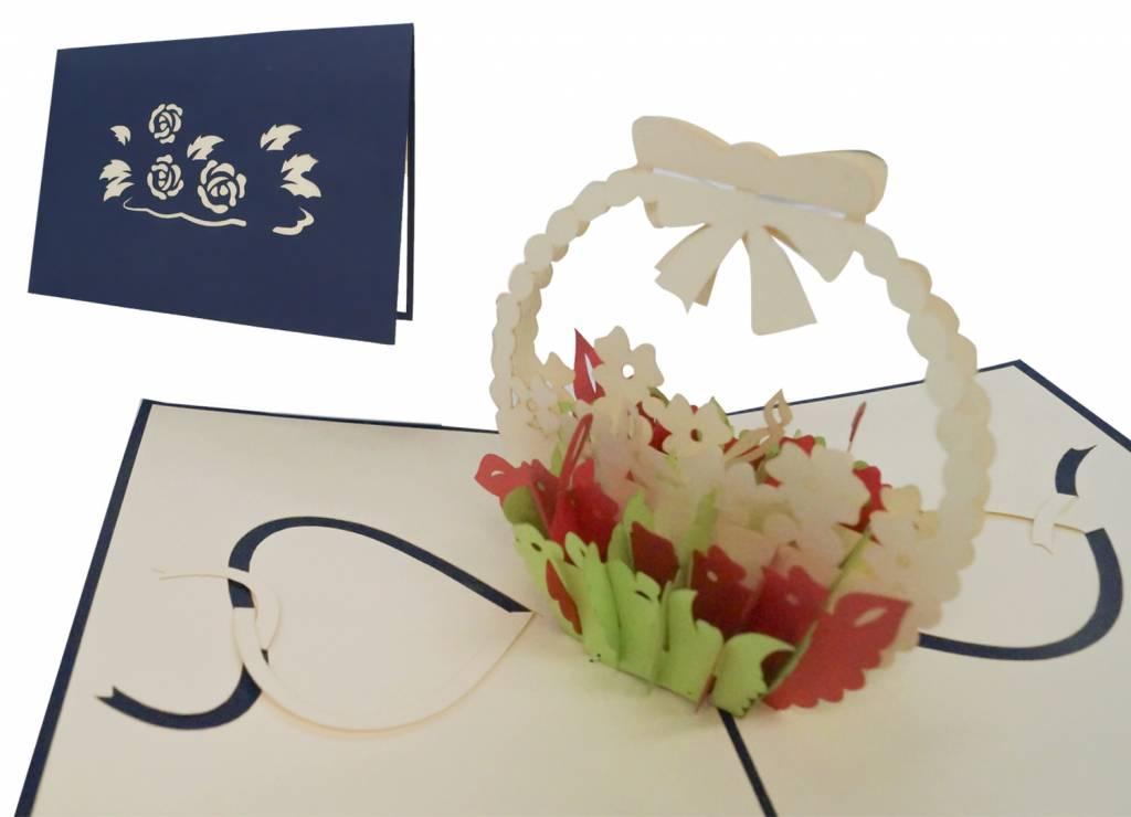 Flower arrangement (blue)
