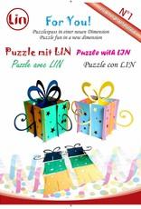 3D Pop Up Puzzle, Geschenkbox (gelb)