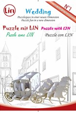 3D Pop up puzzle, Wedding carriage