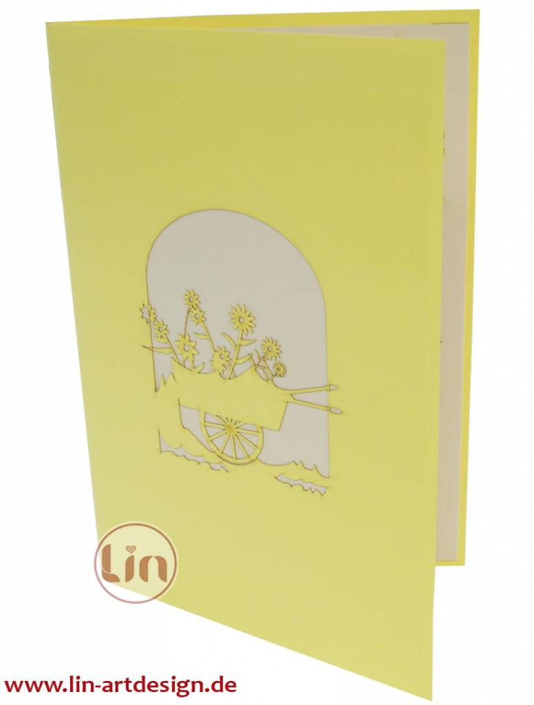 Blumenwagen (gelb)(Nr.41)