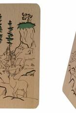Grußkarte aus Holz, Glückwunschkarte, Geburtstagskarte, Wander Gutschein, N606