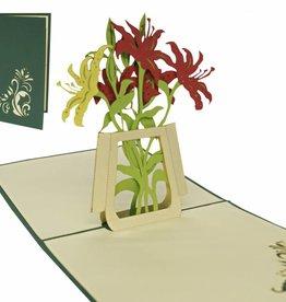 Pop Up 3D Karte, Geburtstagskarte, Glückwunschkarte Muttertag, Lilien, N42
