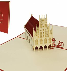 Pop up card, town hall Münster