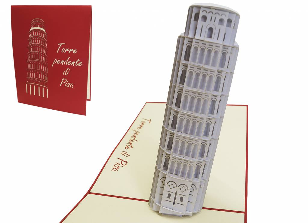 Pop Up birthday card, Leaning tower of Pisa (Nr.201)