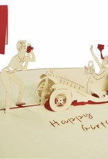 Pop Up 3D Karte, Geburtstagskarte, Glückwunsch karte Gutschein, Partyeinladung, Oldtimer, N10