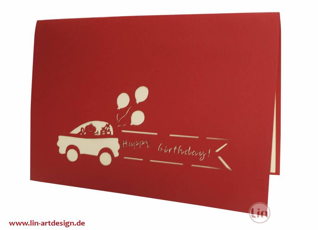 Feier mit Oldtimer (rot) (Nr. 10)
