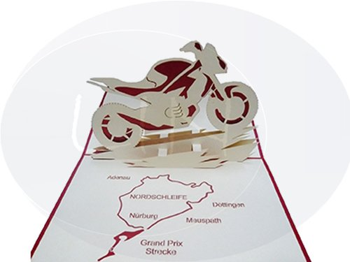 Motor bike with map