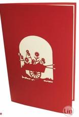 Blumenwagen (rot)(Nr.52)