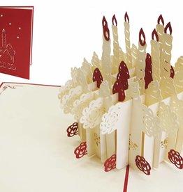 Pop Up Geburtstagskarte, Geburtstagstorte (Groß)