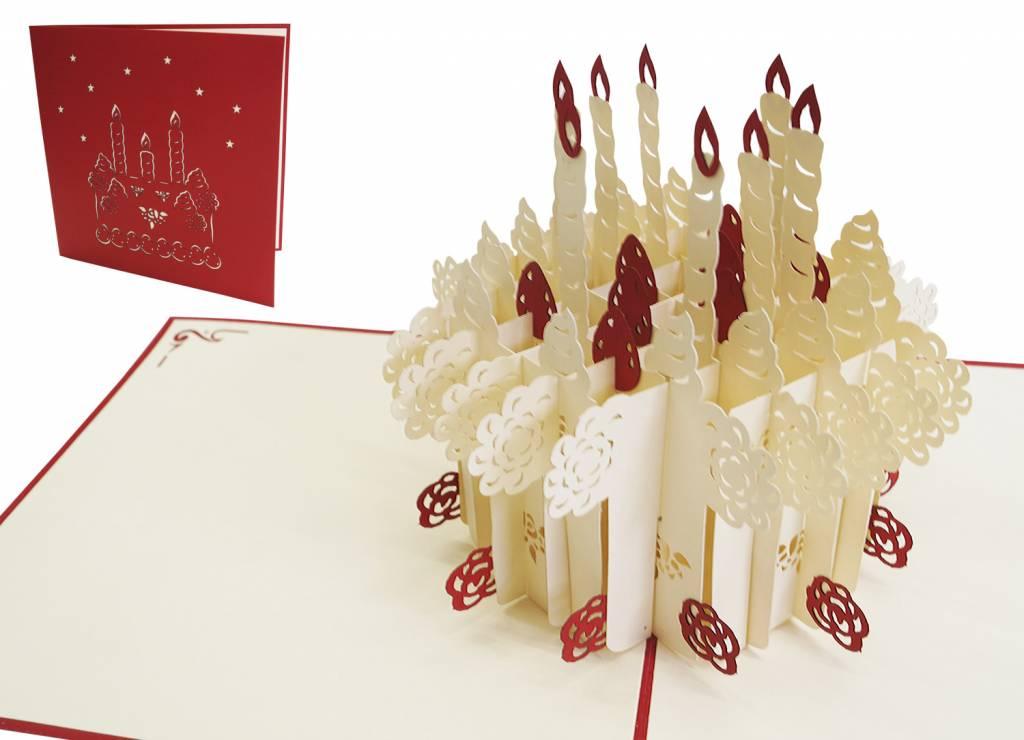 Pop Up Birthday Card Birthday Cake Lin Lin Pop Up 3d Greeting