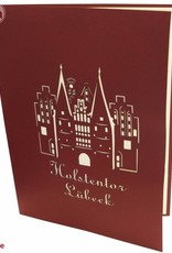 Pop Up greeting card, Luebeck Holstentor
