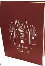 Pop Up greeting card, Luebeck Holstentor