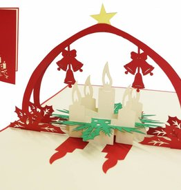 Pop up christmas card, Advent wreath