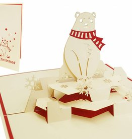 Pop up christmas card, polar bear