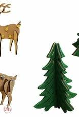Weihnachtsdekoration, Bastelset Tannenbäume Rentiere