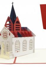 Pop up wedding card - Church (N277)
