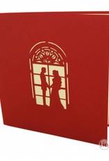 Pop Up Hochzeitskarte - Hochzeitskirche (N277)