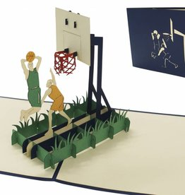 Pop Up Karte - Geburtstagskarten, 3D Karten Sport, Basketball
