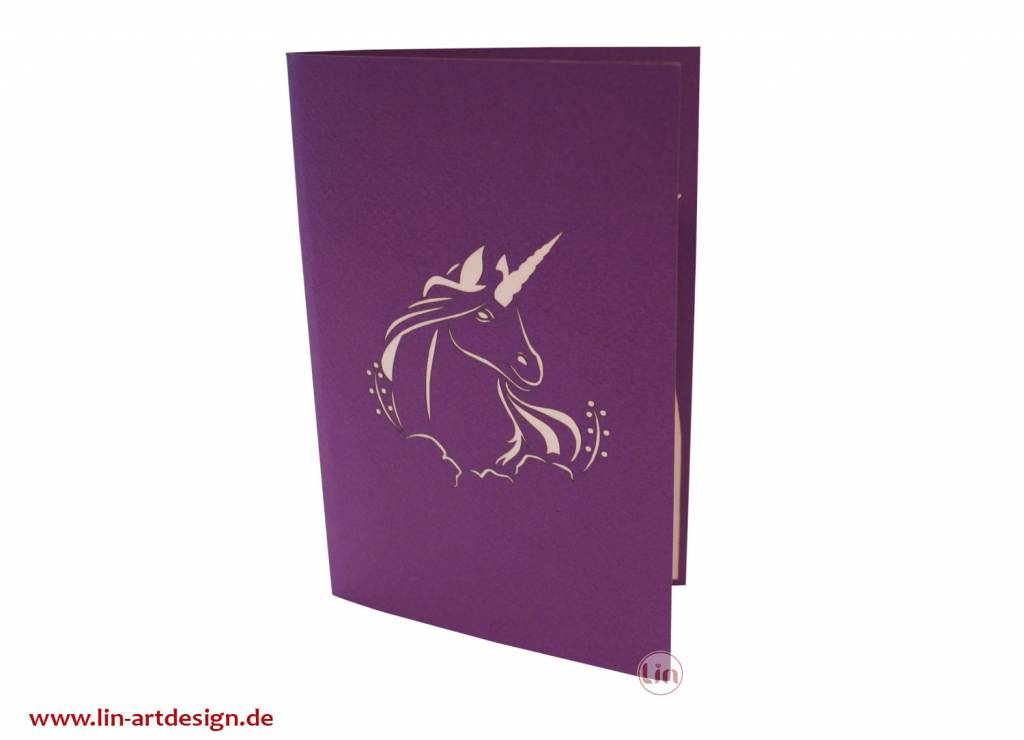 Pop up card - Unicorn (N281)