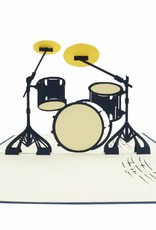 Pop up card, music, Birthday, Congratulations, Drumset, Concert Coupon, No. 282