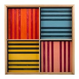 Kapla 100 stuks in kist gekleurd (8001)