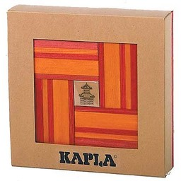Kapla 40 stuks kleur met boekje rood/oranje (8008)