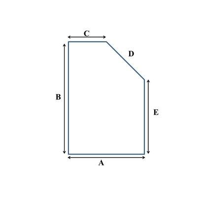 Tot 90 cm breed traagschuim oplegmatras/topper met 1 schuine zijde