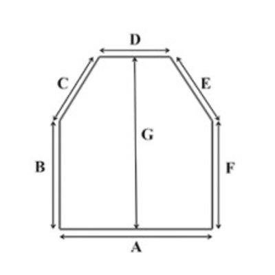 Traagschuim oplegmatras met 2 schuine hoeken