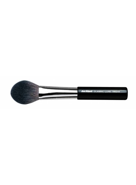 DaVinci Classic Luxe Powder/Blusher Brush Oval Pointed, Extra Fine, Dark Brown Mountain Goat Hair 98244