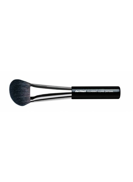 DaVinci Classic Luxe Blusher/Contour Brush Large & Angled, Extra Fine, Dark Brown Mountain Goat Hair 97244
