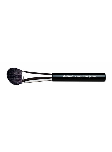 DaVinci Classic Luxe Blusher/Contour Brush Small & Angled, Extra Fine, Dark Brown Mountain Goat Hair 92244