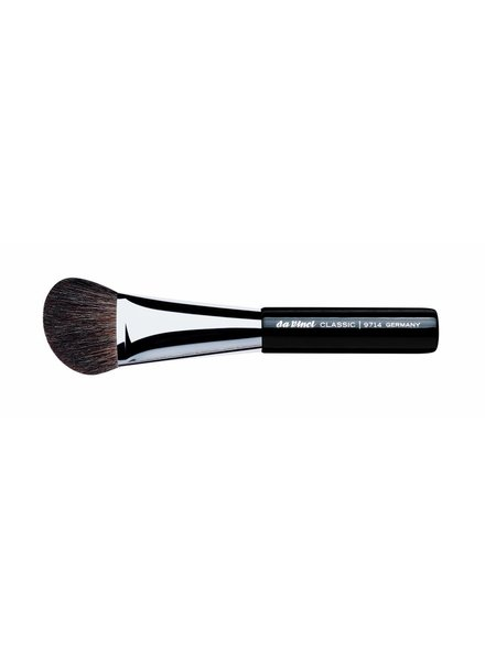 DaVinci Classic Blusher/Contour Brush Large & Angled, Brown Mountain Goat Hair 9714