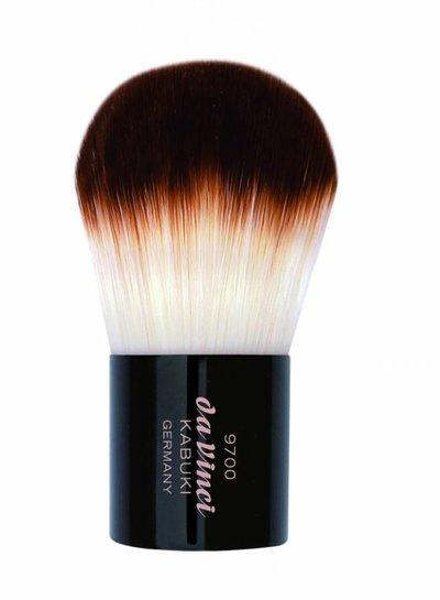 DaVinci Kabuki Powder Brush in a Metal Travel Box, Smooth Synthetic Fibres 9700