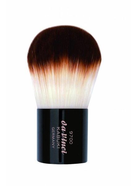 DaVinci Kabuki Powder Brush in a Metal Travel Box, Smooth Synthetic Fibres 9700
