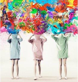 Kleurrijke Mensen - Fotografisch Kunstwerk op Plexiglas