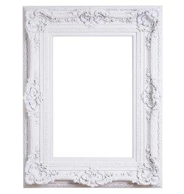 Monaco - Witte barok lijst van hout met ornament