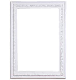 Murcia - witte houten lijst met ornament