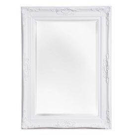 Nice sfeervolle spiegel met barok witte lijst