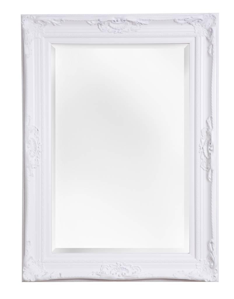 Nice spiegel met barok witte lijst for Barok spiegel