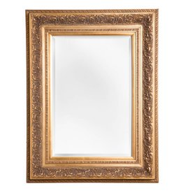 Genova - Luxe Barok Spiegel met Windmotief - Goud Gekleurd