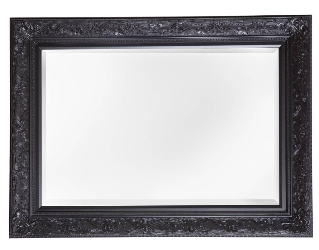 Turin sfeervolle spiegel met zwarte barok lijst for Spiegel met zwarte lijst
