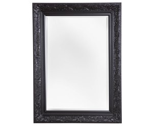 Spiegel Zwarte Lijst : Turin sfeervolle spiegel met zwarte barok lijst kunstspiegel