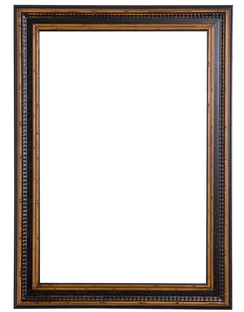 Pin barok brocante spiegel zwart 60x60 jaco meubels ede on for Spiegel 60x60