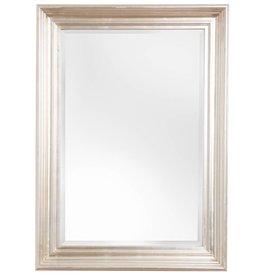Brescia - spiegel met moderne zilveren lijst
